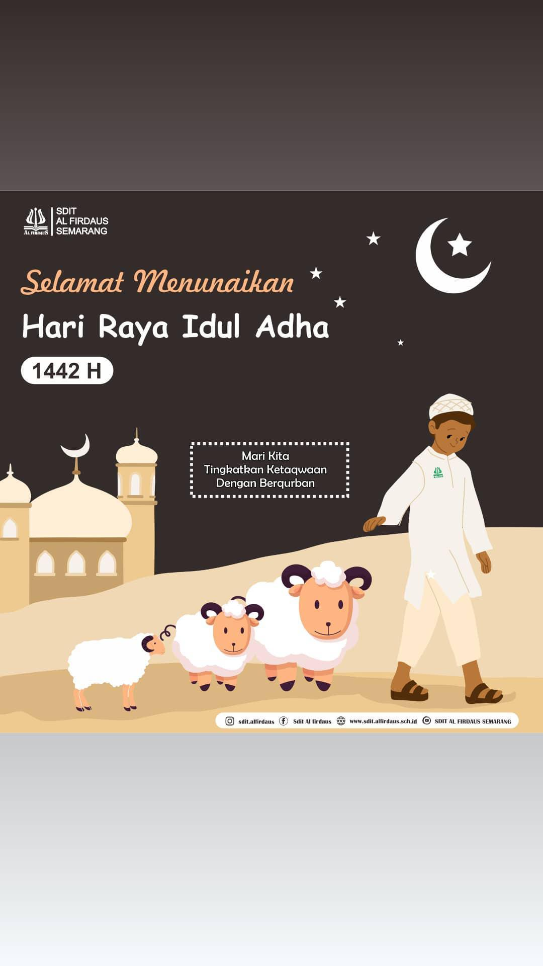 MENYAMBUT HARI RAYA IDUL ADHA 1442 H